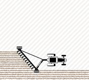 The tractor plows the field before sowing. Spring or autumn field work. Work on the farm. Copy space Royalty Free Stock Image
