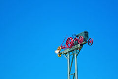 Tractor On A Pole Royalty Free Stock Images