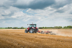 Tractor preparation the field Royalty Free Stock Image
