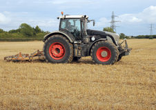 Tractor prepares the field Royalty Free Stock Image