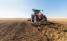 Tractor preparing land Royalty Free Stock Photo