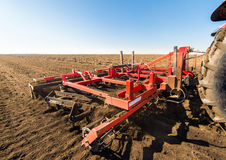 Tractor preparing land Royalty Free Stock Images