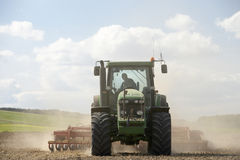 Tractor Preparing Soil Stock Image
