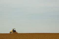 Tractor preparing the Soil for Planting Royalty Free Stock Photo