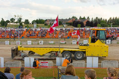 A tractor pull on a saturday evening in southern ontario Royalty Free Stock Photos