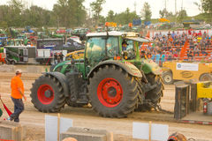 A tractor pull on a saturday evening in southern ontario Stock Image