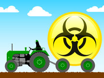 Tractor pulling biohazard icon Stock Image