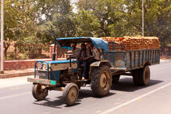 Tractor pulling load of Brick India Royalty Free Stock Image