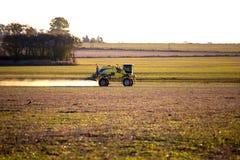 Tractor, pulverize, spray Royalty Free Stock Photos