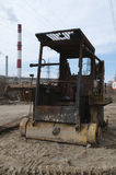 Tractor quemado Fotos de archivo