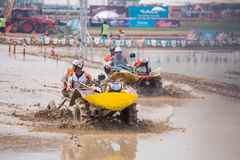 Tractor racer racing in Kubota mud track Royalty Free Stock Images