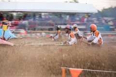 Tractor racer racing in Kubota mud track Royalty Free Stock Image