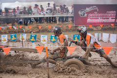 Tractor racer racing in Kubota mud track Royalty Free Stock Photography