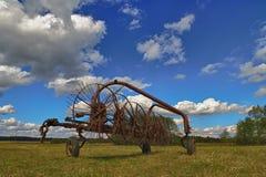 Tractor rake Stock Image