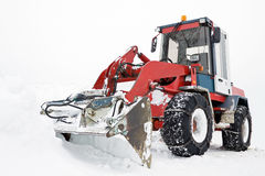 Tractor ready to work in winter Royalty Free Stock Images