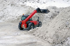 Tractor removes snow Royalty Free Stock Photos