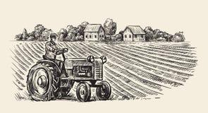 Tractor retro del vector ilustración del vector