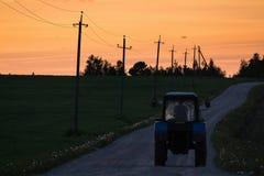 Tractor returning Stock Photos