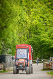 Tractor ride on a farmland Stock Photo