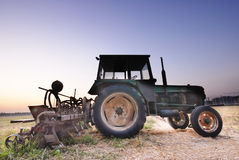 Tractor on road Stock Photography