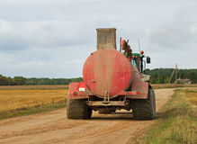 Tractor on the road. Stock Images