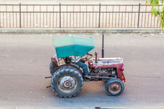 Tractor on the road in Jaipur Stock Images