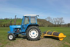 Tractor and Roller Royalty Free Stock Photography