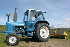 Tractor and Roller Stock Image