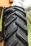 Tractor rubber wheel Stock Photo