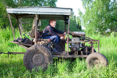 Home-made tractor Royalty Free Stock Images