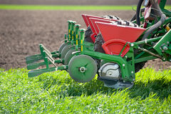 Tractor and seeder Royalty Free Stock Images
