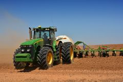 Tractor Seeding Stock Photo