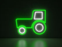 Tractor - Series Neon Signs Stock Photography