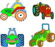 Tractor set Royalty Free Stock Image