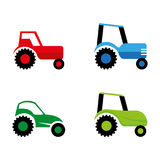 Tractor. A set of tractor icons Stock Photo