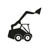 Tractor sign illustration. Vector. Black icon on white background Stock Photos