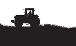 Tractor silhouette Royalty Free Stock Photography