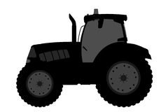 Free Tractor Silhouette On A White Background. Stock Images - 51093594