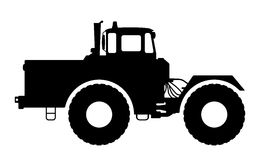 Free Tractor Silhouette On A White Background. Royalty Free Stock Photography - 61050717