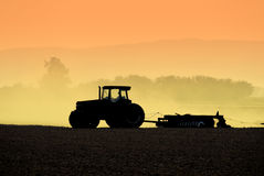 Tractor Silhouettes Royalty Free Stock Photo