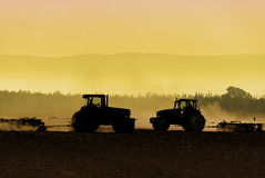 Free Tractor Silhouettes Royalty Free Stock Photo - 39084885