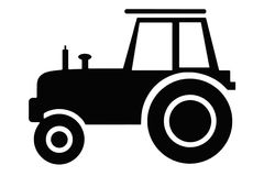 Tractor sillhouette Stock Photo