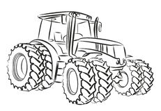 Tractor. Royalty Free Stock Images