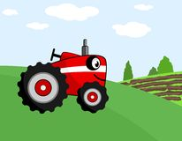 Tractor smile cartoon Stock Photography