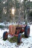 Tractor in sneeuw Royalty-vrije Stock Afbeeldingen