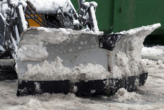 Tractor snow removal Stock Image