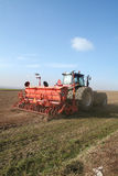 Tractor sow seed Royalty Free Stock Photography