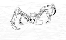 Tractor-spider or increase of the productivity Stock Images