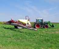 Tractor with sprayer Royalty Free Stock Photography