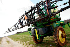 Tractor sprayer on open field 02 Stock Photo